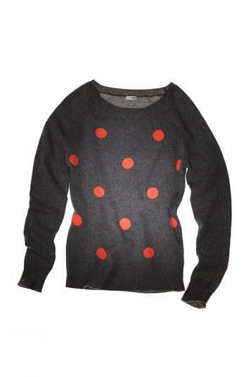 Polka Dot Cashmere Sweater