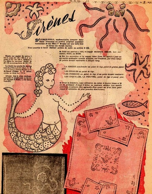 Archive of vintage embroidery patterns
