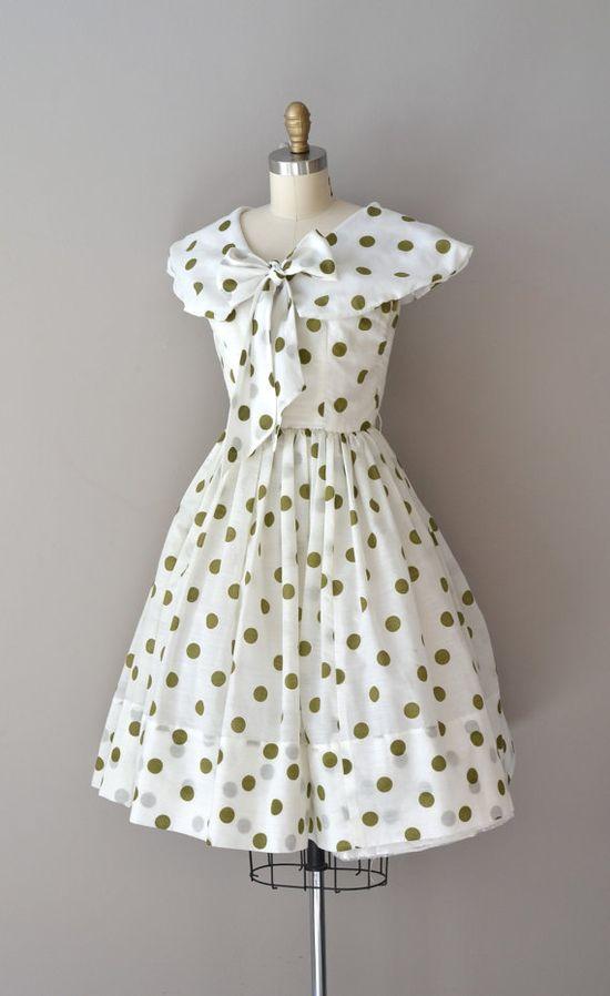 polka dot 50s dress