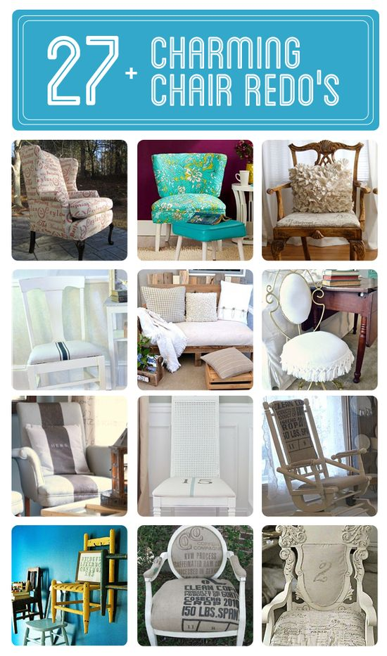 New ideas for old chairs! Click here for full projects