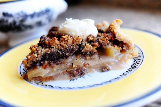 "This is the BEST apple pie I have ever made! apple pecan streusel pie... This looks like what cracker barrel has as their current special! By pioneer woman ~ she calls it ""Dreamy Apple Pie"""