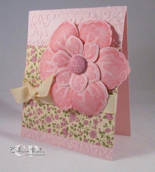 build a blossom stamp set springtime vintage designer series paper blossom petal punch stampin up