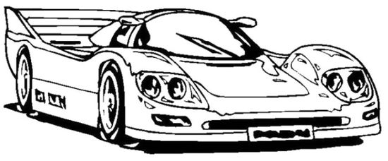 Koenigsegg Sports Car Coloring Page