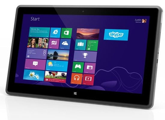 Vizio introduces 11.6-inch Windows 8 Tablet PC at CES