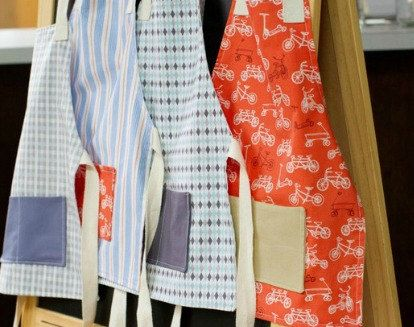 Boys Art Aprons by Love Elaine on Etsy