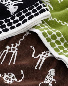 klippan wild animals blanket