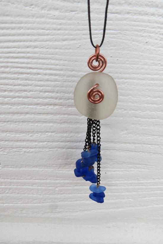 Beach Glass Jewelry Glass Beach Sea glass charm necklace