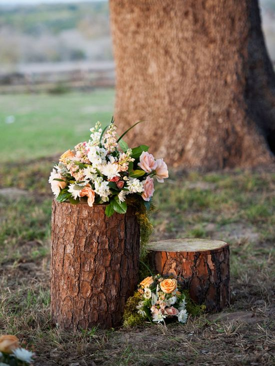 rustic wedding aisle decor idea