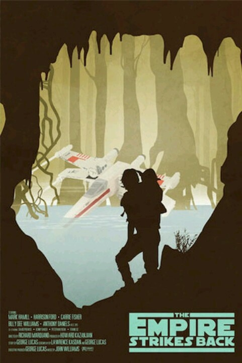 The Empire Strikes Back minimalist movie poster