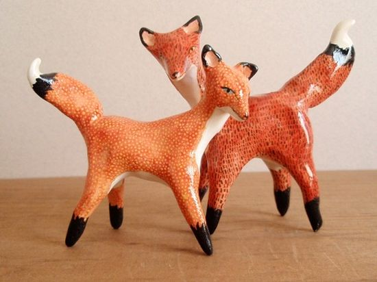 fox cake toppers // oh no, oh my!
