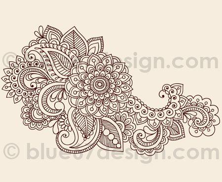 white paisley tattoo