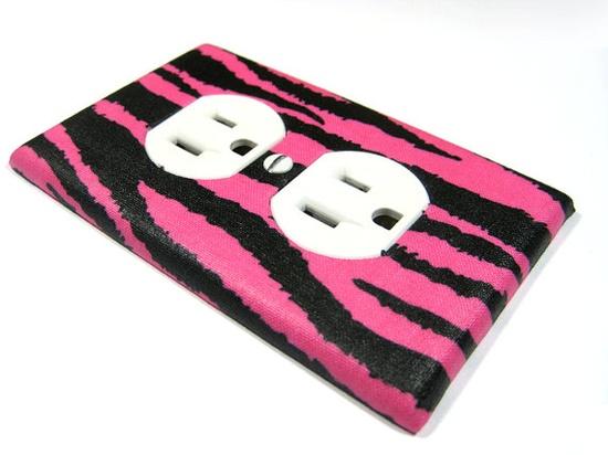 Children Decor Hot Pink and Black Zebra Stripes by ModernSwitch, $8.00