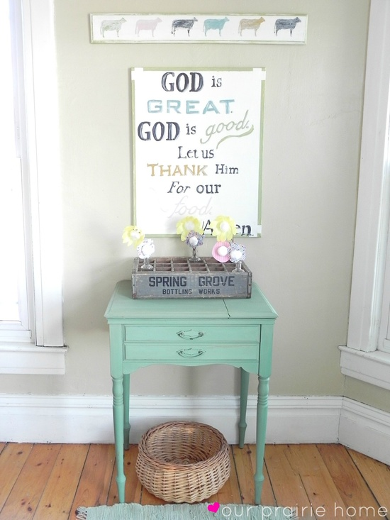 Our Prairie Home: 1 Little Table. {A Before & After}