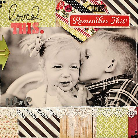 """""""loved this"""" scrapbooking page"""