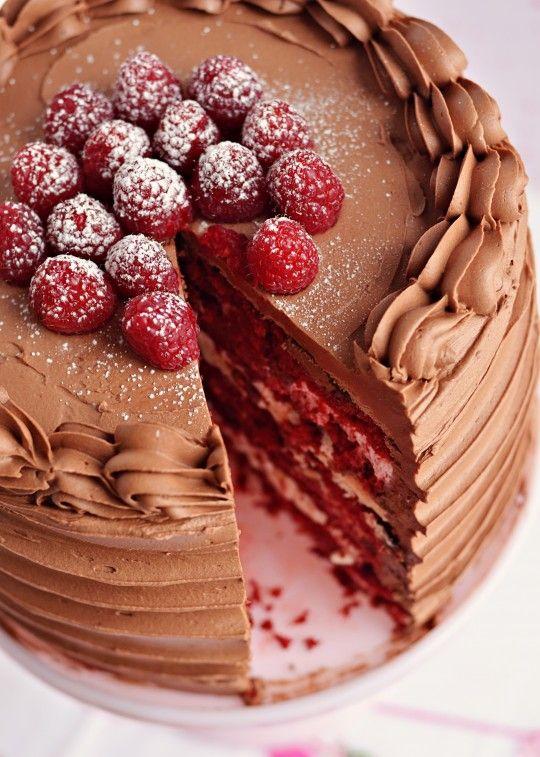 Red Velvet & Raspberry Supreme Cake