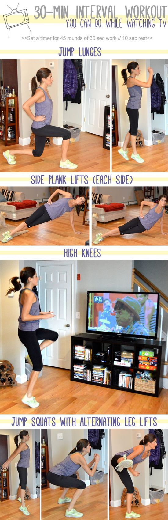 workout you can do while watching TV #fitness #workout #exercise #home #tip