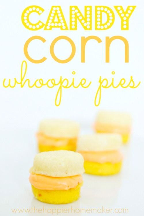 Candy Corn Whoopie Pies