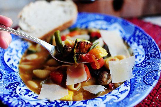 roasted vegetable minestrone- the pioneer woman