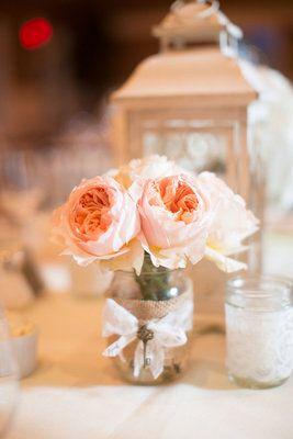 Mason Jar Wedding Reception Decor