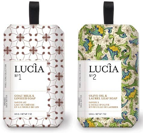 Lucia Soaps. #soap #packaging