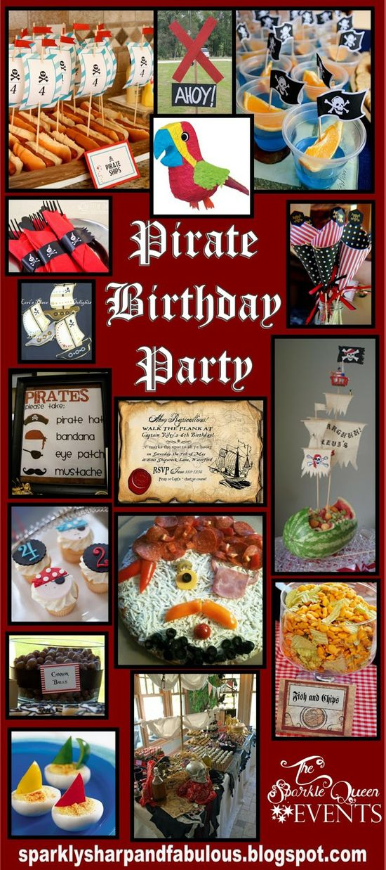Pirate Birthday Party for Little Boys - inspiration board