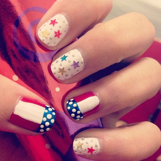 bachjennifer's festive tips. Show us your 4th of July-inspired nails! Tag your pic #SephoraNailspotting to be featured on our social sites.