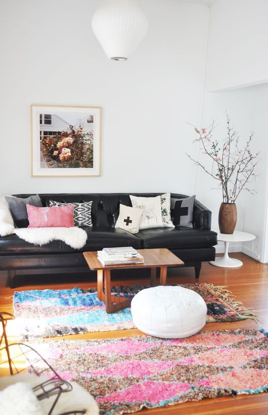 i went and added some colorful boucherouite rugs to my living room!