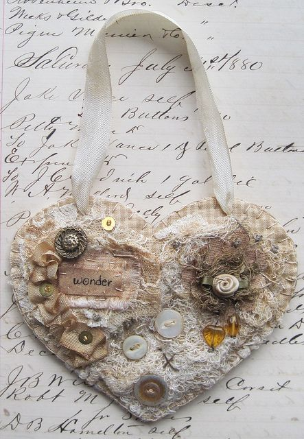 scrappy vintage heart