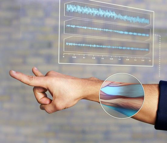 MYO - The Gesture Control Armband    With the wave of your hand, MYO will transform how you interact with your digital world.    The MYO armband lets you use the electrical activity in your muscles to wirelessly control your computer, phone, and other favorite digital technologies.