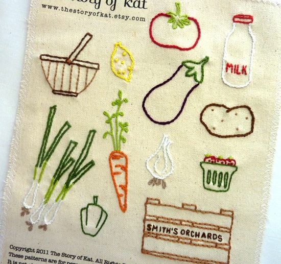embroidery pattern for KITCHEN