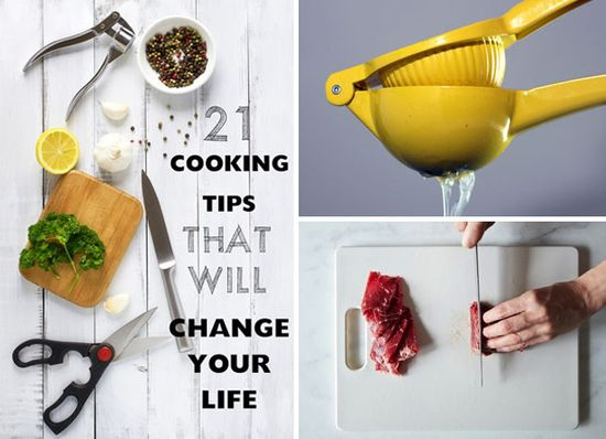 Cooking tips to change your life