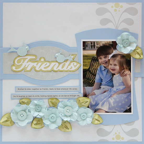 These beautiful flowers make this Friends layout even more special  #Cricut