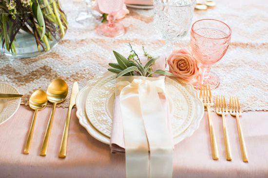 pink + gold romantic wedding inspiration