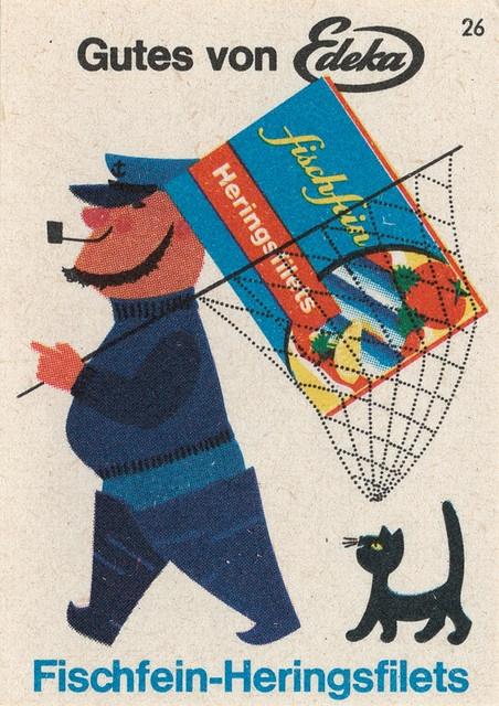 Vintage German matchbox cover.