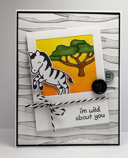 Lawn Fawn - Critters on the Savanna stamps and Lawn Cuts, Say Cheese Lawn Cuts _ I'm Wild About You by SweetMaeBelle, via Flickr