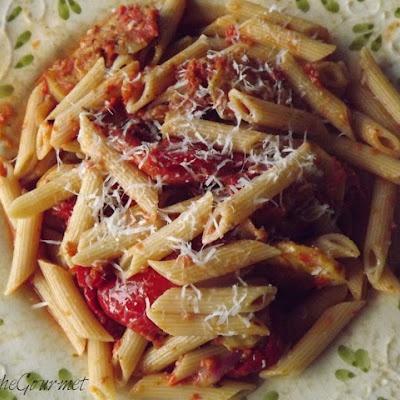 Fresh Tomato Sauce with Grilled Veggies and Macaroni