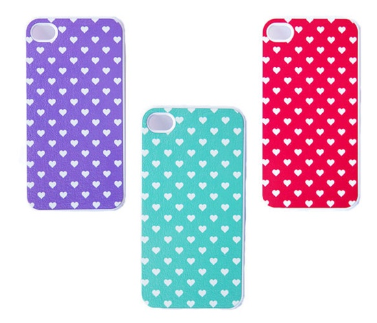 Polka Heart iPhone Cases.