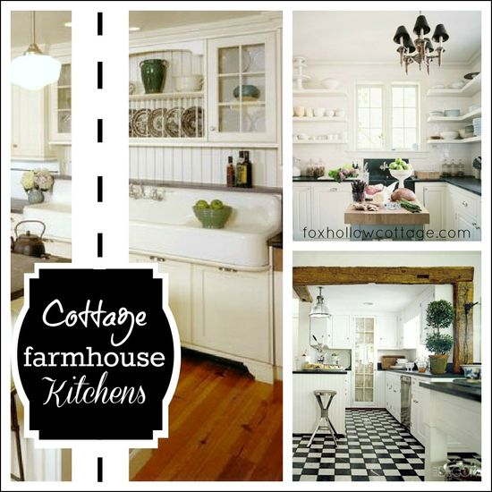 White Cottage Farmhouse Kitchens