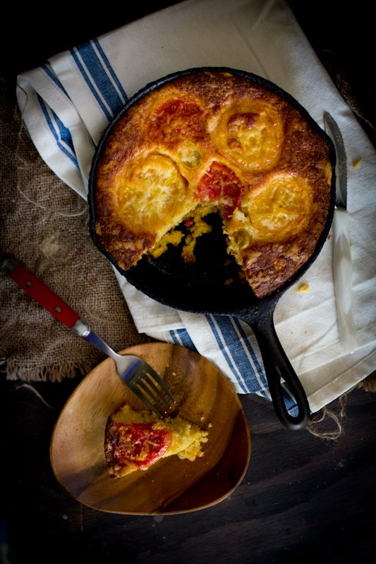 Adventures in Cooking: Heirloom Tomato Cornbread with Cheddar Cheese