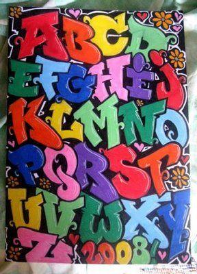 Graffiti Alphabet - Graffiti Art - Graffiti Letters -3D Graffiti