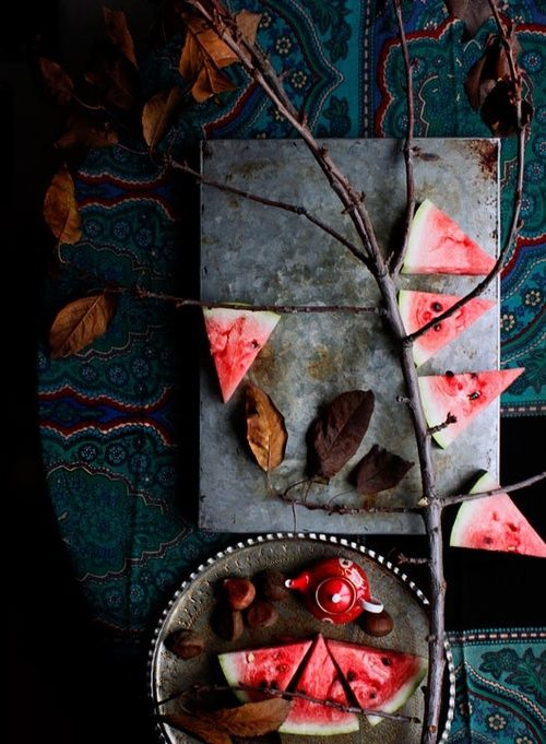 ? Food styling photography still life watermelon