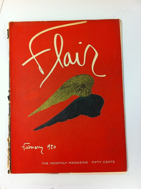 Cover by René Gruau for Flair magazine February 1951. cc: @TypeLettering