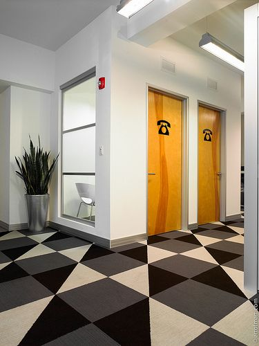 Private phone booths! Buro Miami Office Design