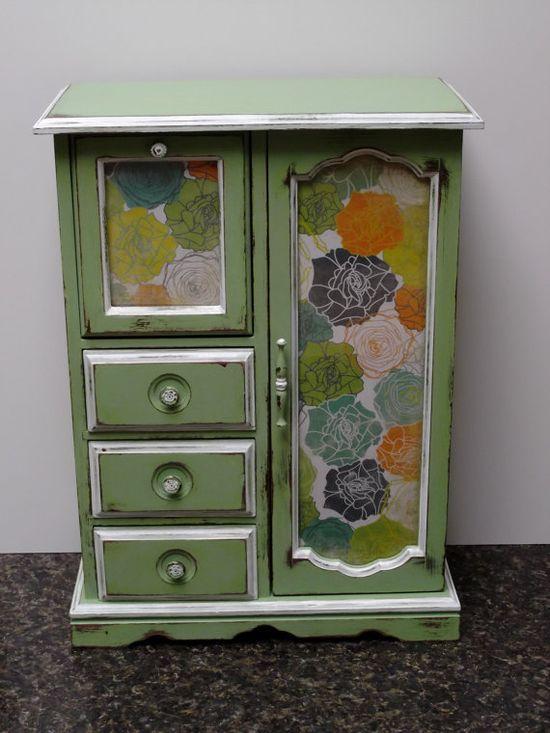 repurposed jewelry box for desk, crafts, jewelry, etc.
