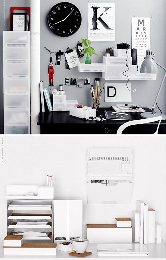 The perfect messy yet organised office.