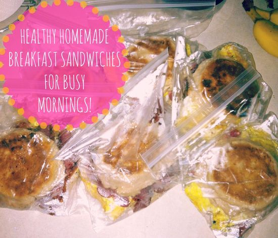 Make your own freezer breakfast sandwiches for busy mornings instead of the box kind!