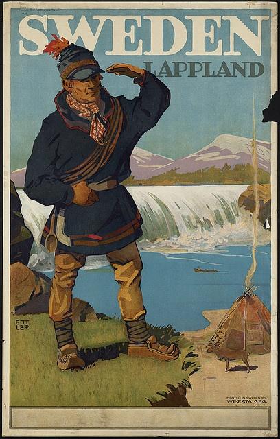 Tourist poster Sweden Lappland  #vintage #travel #poster #sweden