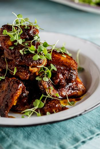 Sticky indian chicken thighs