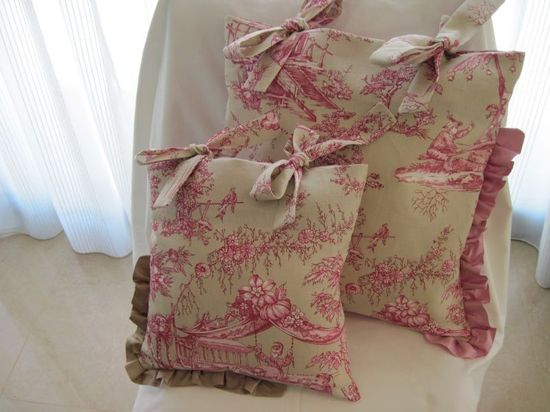 Romantic shabby chic cottage style pillow covers