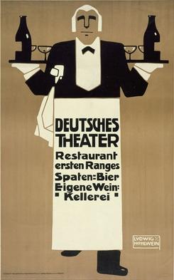 By Ludwig Hohlwein (1874–1949), 1907, Deutsches Theatre. (G)